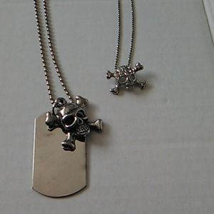 Jewelry - Nwot Skull necklace set